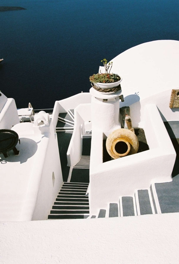 Firastephani art gallery on the Cycladic island of Santorini.
