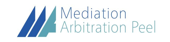 Neutral, clean logo developed to represent a group of general mediation arbitration lawyers in Peel Region